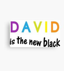 David is the new black, fun quote, famous names Canvas Print