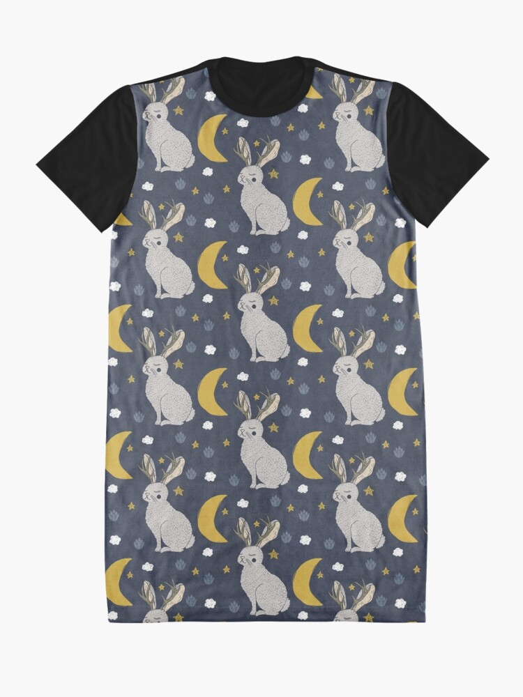 Alternative Ansicht von Serene Jackalope T-Shirt Kleid