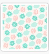 Lemons | Minty Green & Pink Sticker