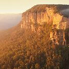 Bridal Veil Falls, Blue Mountains, New South Wales, Australia by Michael Boniwell
