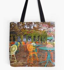Autumn on the Terrace Tote Bag