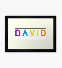 David; personalized products Framed Print