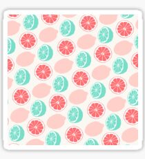 Lemons | Minty Green & Red Sticker