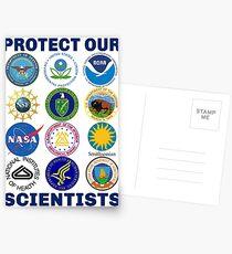 Schützen Sie unsere Wissenschaftler Wissenschaft März Pro-Science Environmentalismus Klimawandel widerstehen Anti-Trump Postkarten
