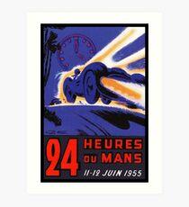 DU MANS: Vintage 24 Hour Race Advertising Print Art Print