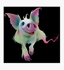 Psychedelic Pig Photographic Print