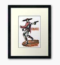 Ember Rush - Fernando - (W/ground) Framed Print