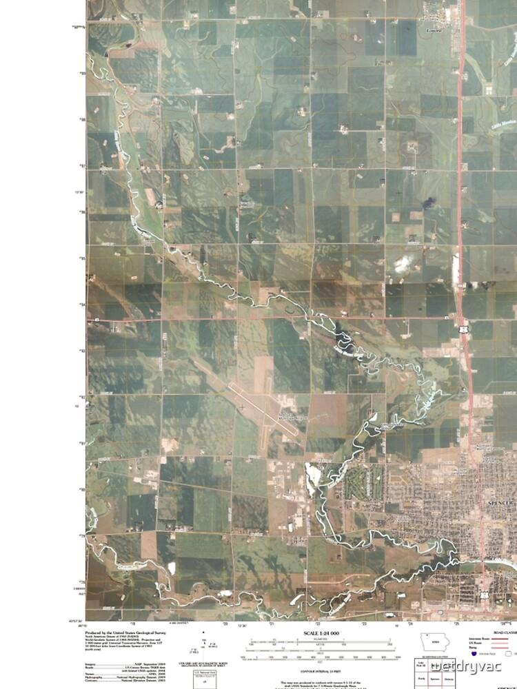 USGS TOPO Maps Iowa IA Spencer 20100514 TM von wetdryvac