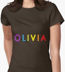 Olivia; personalized products Womens Fitted T-Shirt
