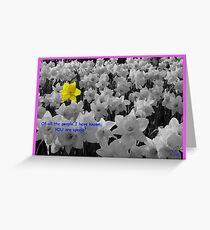 You are Special (b&w version) Greeting Card