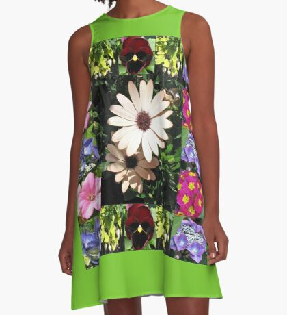 Bright and Beautiful - Floral Collage A-Linien Kleid