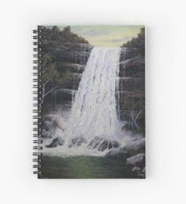 Waterfall In Motion Spiral Notebook