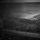 View Over The Fence On Hempstead Bay   Sands Point, New York by © Sophie W. Smith