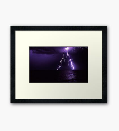 never ever give up.... Framed Print