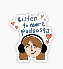 Podcast love Sticker