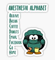 Anesthesia Alphabet Sticker