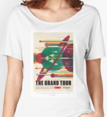 NASA JPL Space Tourism: The Grand Tour Women's Relaxed Fit T-Shirt