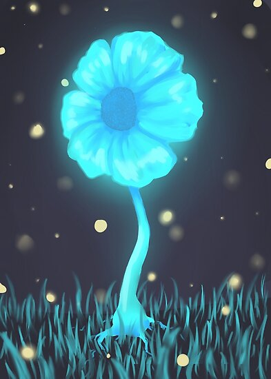 Echo Flower Posters By Nicolear Redbubble