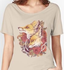 Red Fox Bloom Women's Relaxed Fit T-Shirt