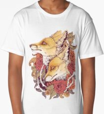 Red Fox Bloom Long T-Shirt