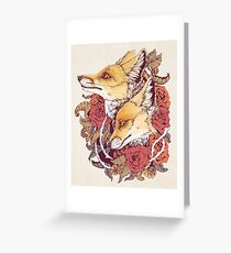 Red Fox Bloom Greeting Card