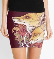 Red Fox Bloom Mini Skirt