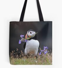 Romantic Puffin Tote Bag