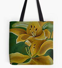 Yellow Tiger Lilies Tote Bag