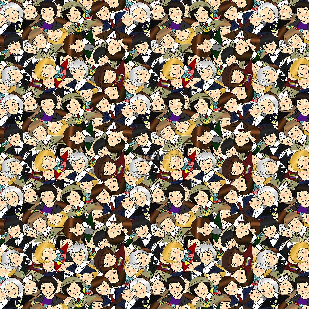 DW Chibi Collage by Leigh Bull