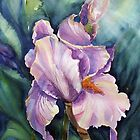 Iris in water colour by Vickyh