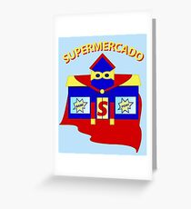 Supermercado Greeting Card