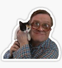 Bubbles from Trailer Park Boys with Cat Sticker