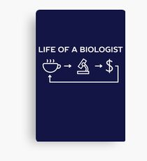 Life of a biologist science humor  Canvas Print