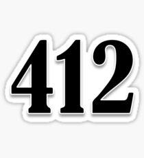412 Pittsburgh Sticker