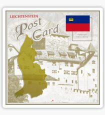 Liechtenstein Curio Post Card Sticker
