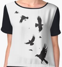 A Murder of Crows Women's Chiffon Top