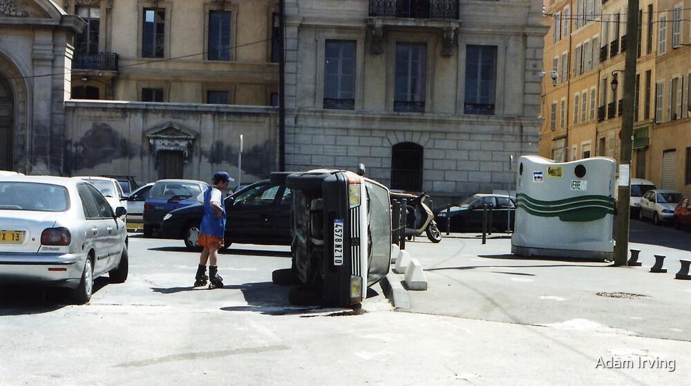 Upturned Car, Marseille  by Adam Irving