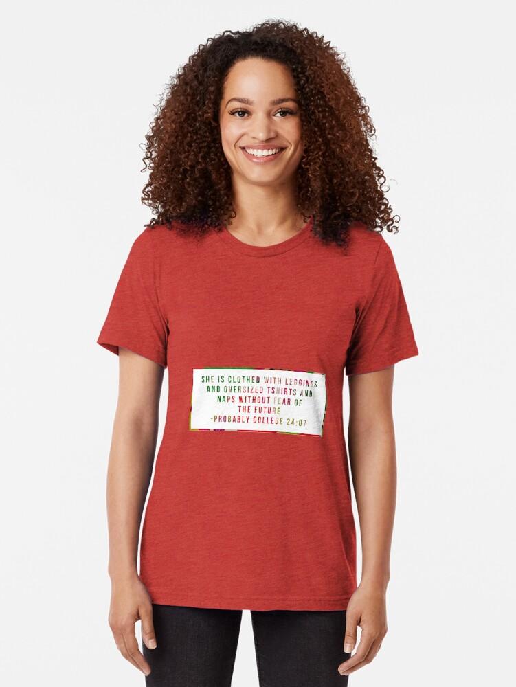 Alternative Ansicht von Hochschulbiblisches Zitat - rotes Blumen Vintage T-Shirt
