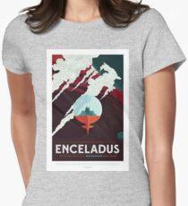 NASA JPL Space Tourism: Enceladus Womens Fitted T-Shirt