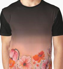 Peach Poppies 2 Graphic T-Shirt