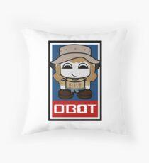 World Traveler O'bot Toy Robot 2.0 Throw Pillow