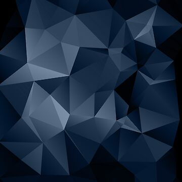 Black and blue polygonal pattern . by fuzzyfox