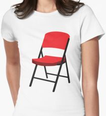 Folding Chair Womens Fitted T-Shirt
