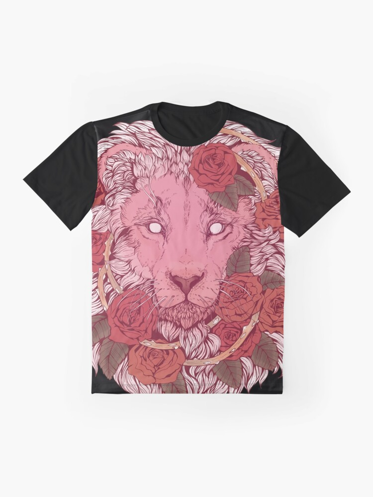 Alternate view of Lion of Roses Graphic T-Shirt