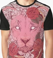 Lion of Roses Graphic T-Shirt