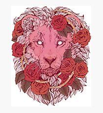 Löwe der Rosen Fotodruck