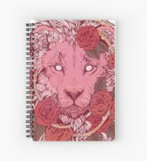 Lion of Roses Spiral Notebook
