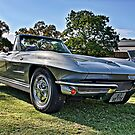 Silver 1963 Chevrolet Corvette convertible. by Ferenghi