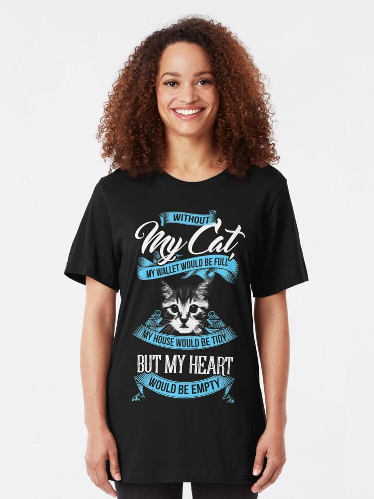 Vista alternativa de Camiseta ajustada GATO