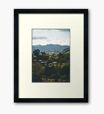 Hollywood Hills Framed Print